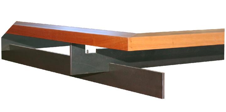 bettgestell metall holz manus. Black Bedroom Furniture Sets. Home Design Ideas